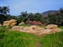 Место 217 Калифорния историческое, индийское место бойни на черном каньоне звезды стоковые фотографии rf