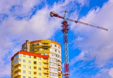 место крана конструкции здания Стоковое фото RF