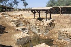 Место крещения Иисуса Христоса Стоковая Фотография RF