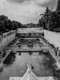 Место курорта султанов Yogyakarta - сари Taman в черно-белом Стоковые Изображения RF