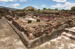 Место Мексика Teotihuacan археологическое Стоковое Изображение