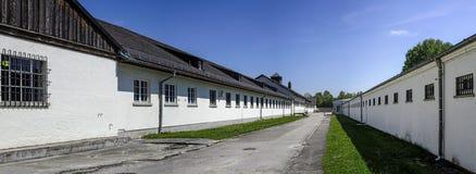 Место мемориала концентрационного лагеря Dachau стоковые фотографии rf
