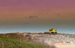 место места захоронения отходов Стоковое Изображение RF