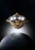 Восход солнца в космосе Стоковые Фотографии RF