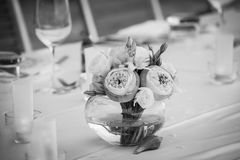 Место на таблице банкета для желанного гостя Стоковое Изображение