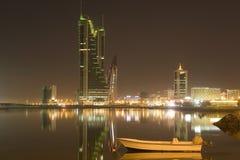 место ночи Бахрейна Стоковые Изображения