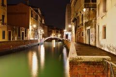 Место ночи в Венеция Стоковое фото RF