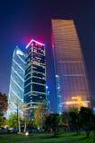 Место ночи в городке guangzhou Zhujiang новом стоковое изображение rf
