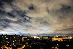 место ночи города цветастое стоковая фотография