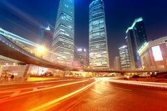 Место ночи города Шанхая Стоковые Фото