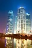 Место ночи города Шанхая Стоковое фото RF