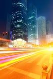 Место ночи города Шанхая Стоковая Фотография RF