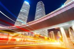 Место ночи города Шанхая Стоковые Изображения RF