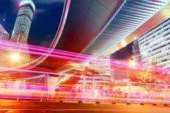 Место ночи города Шанхая Стоковое Изображение RF