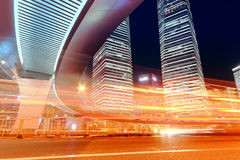 Место ночи города Шанхая Стоковое Изображение