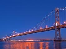 место ночи моста залива Стоковые Изображения RF