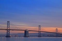 место ночи моста залива Стоковое Изображение RF