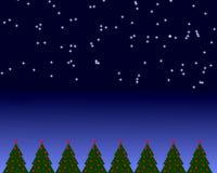 место ночи рождества иллюстрация штока