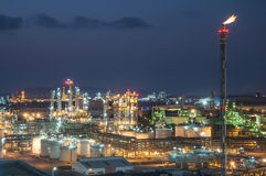 Место ночи химического завода Стоковые Фотографии RF