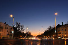 место ночи budapest Стоковые Фото