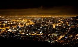 Место ночи Cape Town Стоковое Изображение