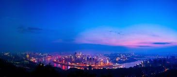 место ночи chongqing Стоковые Фотографии RF