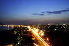 место ночи hakodate Стоковое Изображение RF