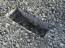 Место образца покрытия асфальта конкретного kern Стоковые Фотографии RF
