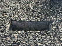 Место образца покрытия асфальта конкретного kern Стоковое Фото