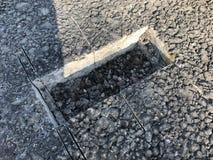 Место образца покрытия асфальта конкретного kern Стоковое фото RF