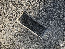 Место образца покрытия асфальта конкретного kern Стоковое Изображение