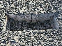 Место образца покрытия асфальта конкретного kern Стоковые Изображения RF