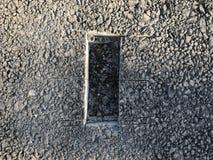 Место образца покрытия асфальта конкретного kern Стоковая Фотография