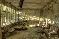 Место ожидания в больнице в Pripyat стоковые фотографии rf