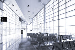 Место ожидания железнодорожного вокзала Стоковая Фотография RF