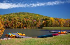 место озера гребли осени яркое Стоковое фото RF