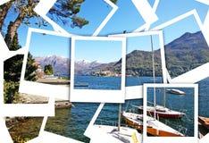 место озера como стоковое изображение