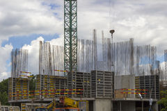 место дома крана конструкции новое residental Стоковое фото RF
