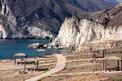 Место остатков на отверстии дуновения (гейзере): Salalah, Оман Стоковая Фотография