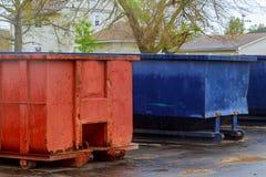 место отброса контейнера конструкции промышленное Стоковая Фотография