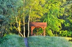 Место отдыха в лесе Стоковое Изображение RF