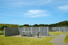 Место пикника с укрытием ветра Стоковая Фотография