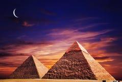 место пирамидок giza фантазии Стоковое Изображение RF