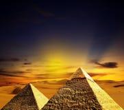 место пирамидок giza фантазии Стоковое Изображение