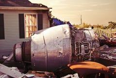 место плоскости двигателя 3 аварий Стоковое Фото