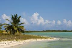 место пляжа идилличное Стоковая Фотография