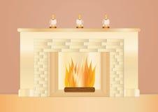 место пожара романтичное Бесплатная Иллюстрация