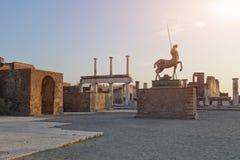 Место Помпеи старое археологическое стоковое изображение rf