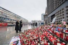 Место поступка террориста в Берлине 19-ого декабря 2016 Стоковые Фото