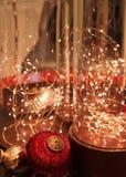 место праздника предпосылки обрамленное рождеством Стоковое Изображение